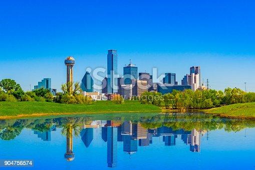 istock Springtime Dallas skyline, Texas 904756574