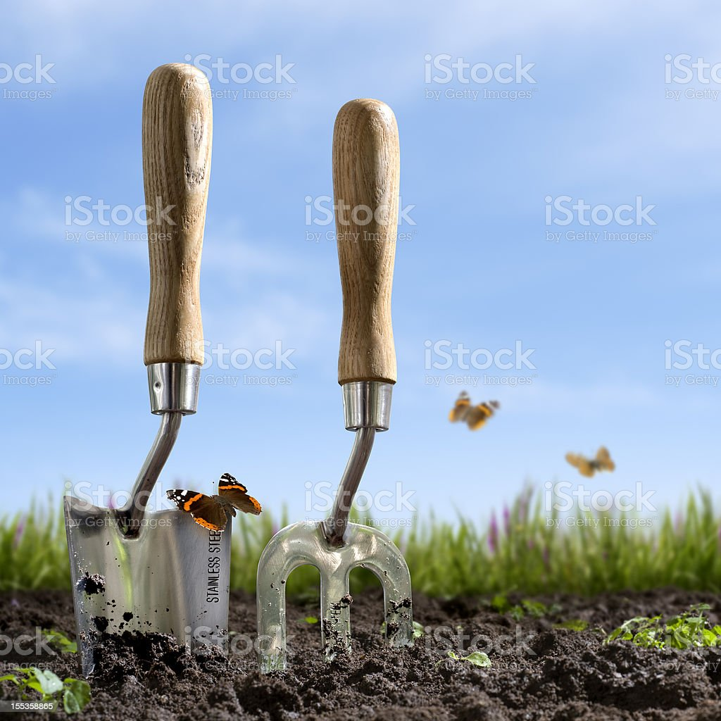 Springtime Gardening royalty-free stock photo