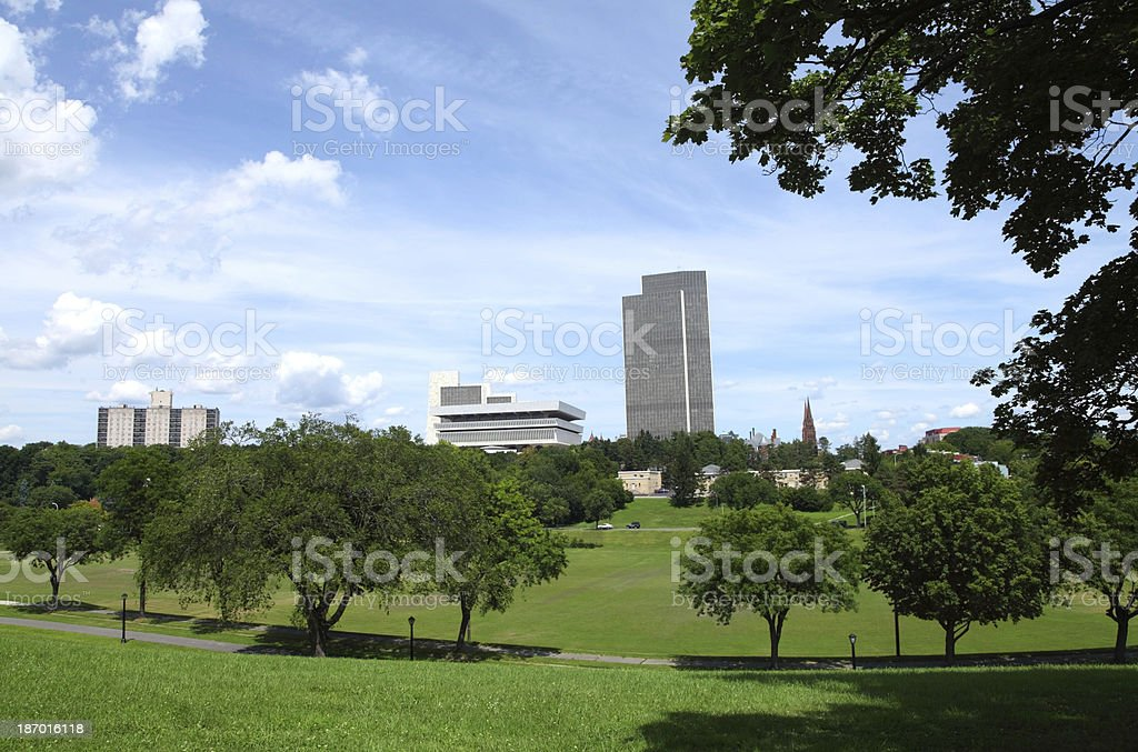 Springtime in Albany, New York stock photo