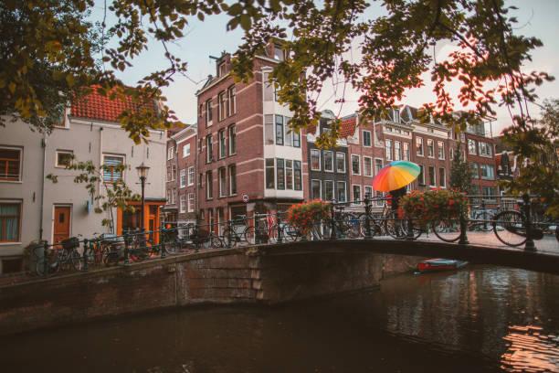 Springtime in Amsterdam stock photo