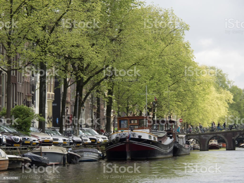springtime in amsterdam royalty-free stock photo