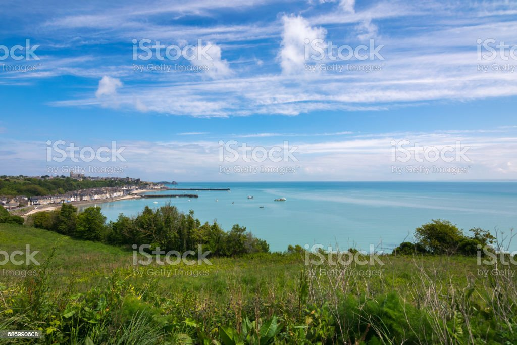 Springtime in Cancale town and surroundings, Pointe du Grouin, France, Brittany, Europe Lizenzfreies stock-foto