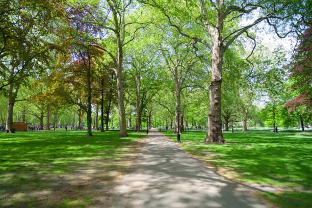 Springtime In Green Park, Central London stock photo