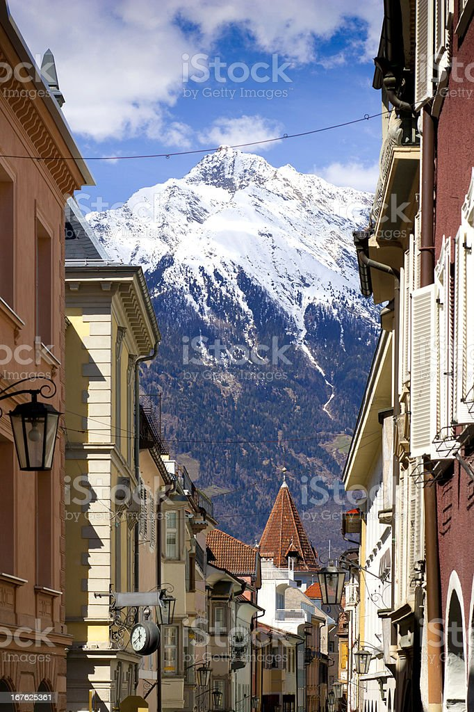 Springtime in Meran in South Tyrol, Italy royalty-free stock photo