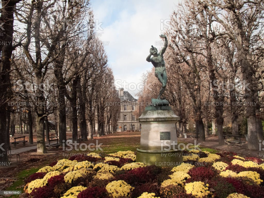 Springtime in Paris France is famous for its colour and romance and a stunning place to visit at that time of year stock photo