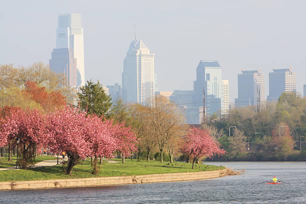 Springtime in Philadelphia city