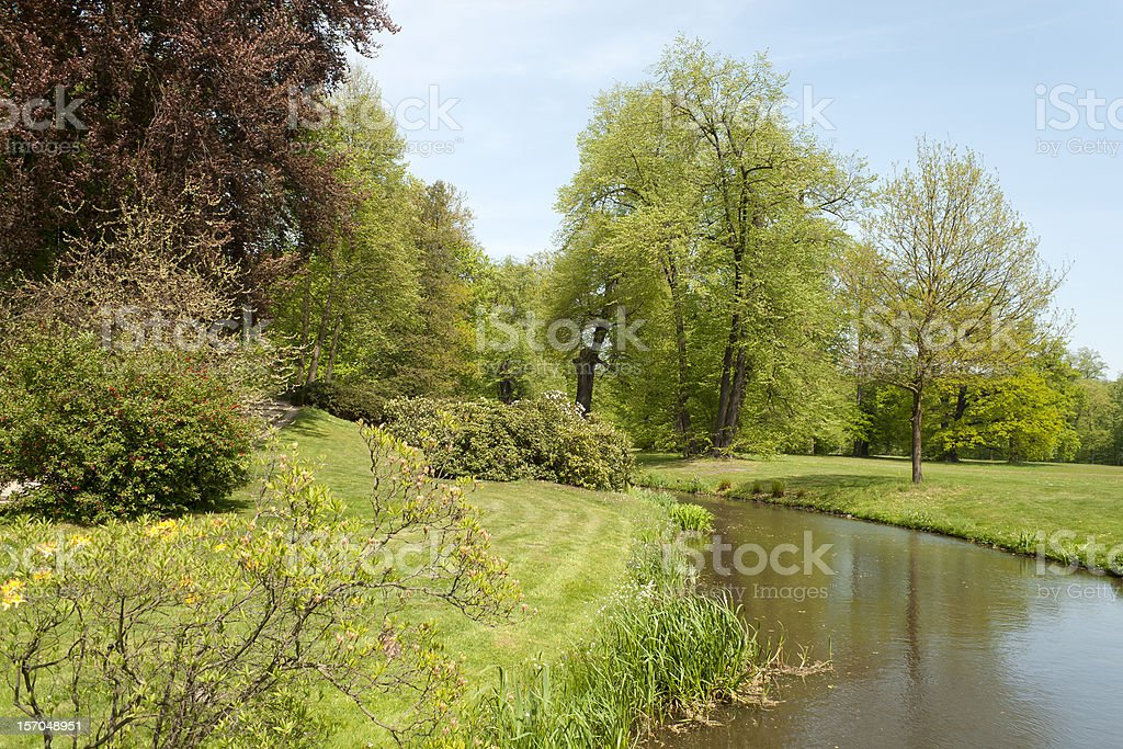 Springtime in the Park stock photo