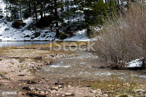 South Clear Creek near Georgetown Colorado in the springtime.