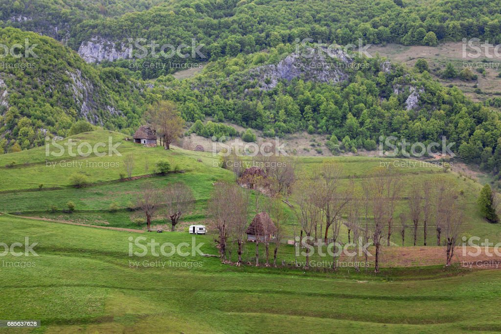 Springtime in Transylvania royalty-free stock photo