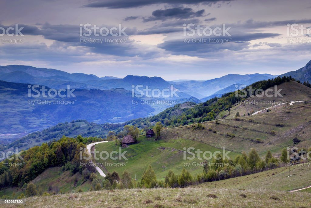 Springtime in Transylvania stock photo