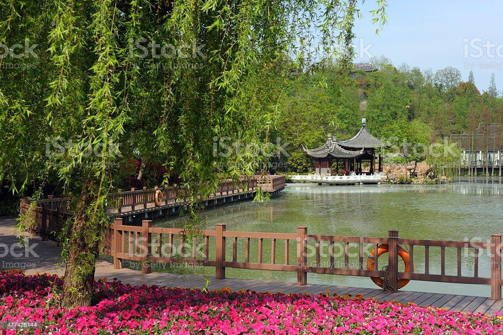 Springtime in Yangzhou China stock photo