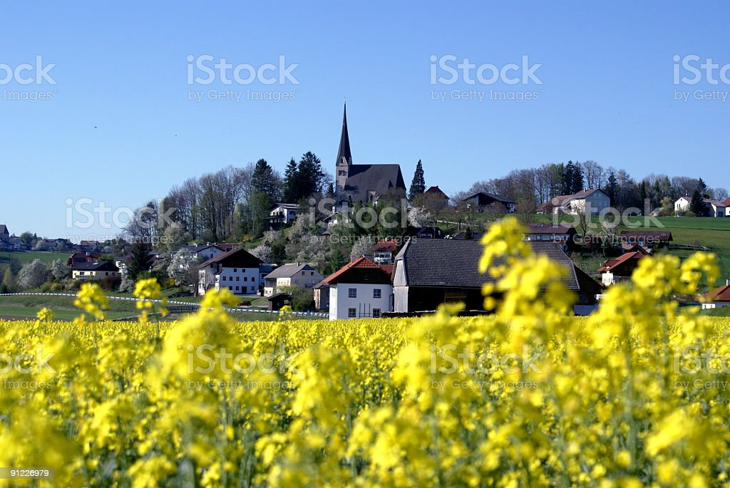 Springtime on the Border of Austria and Bavaria royalty-free stock photo