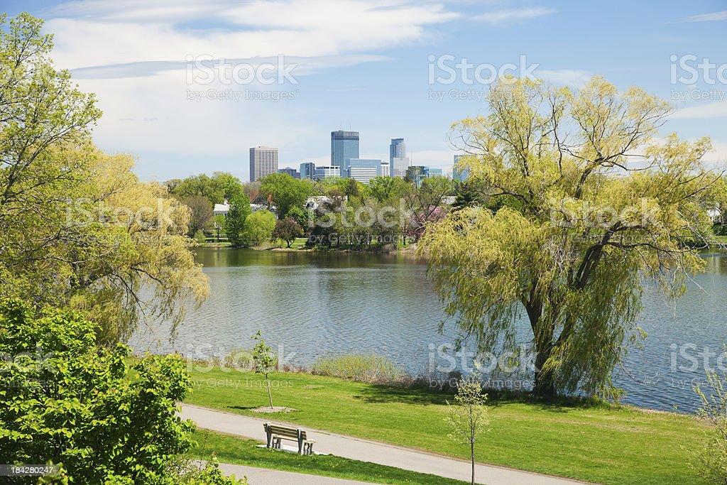 Springtime view in Minneapolis, Minnesota. stock photo