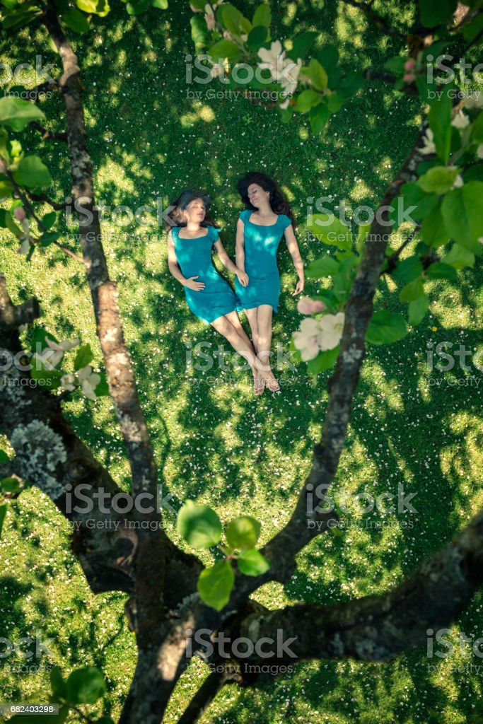 Springtime Women heart royalty-free stock photo
