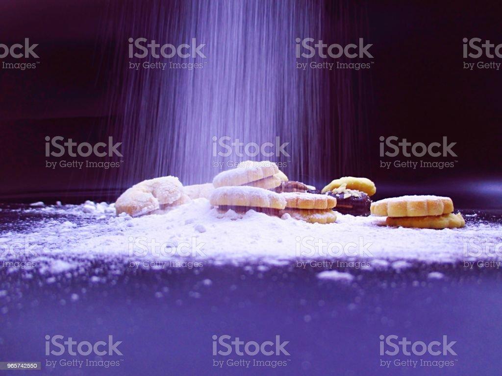 sprinkled icing sugar cookies - Royalty-free Atmosphere Stock Photo