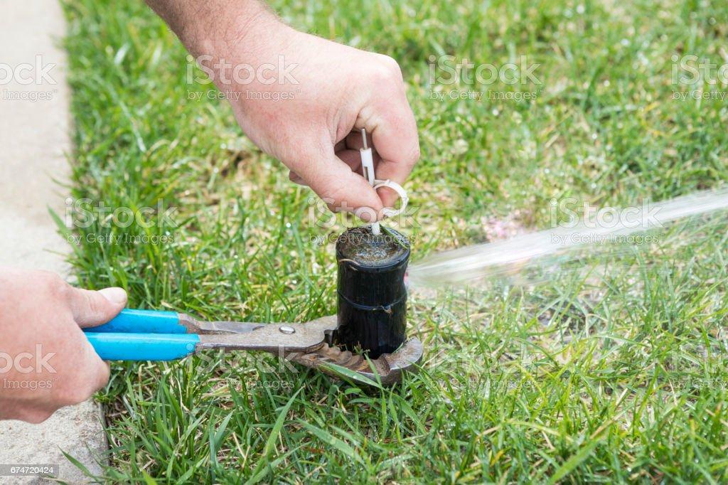 REGLAGE TETE de gicleurs pour système d'Irrigation de pelouse - Photo