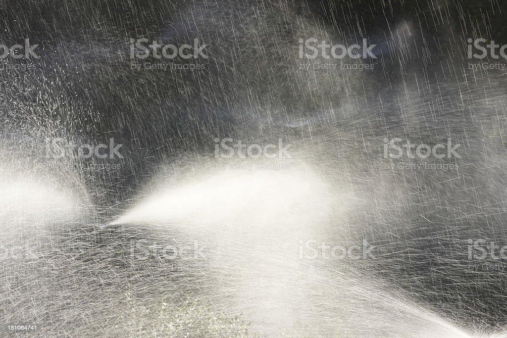 Sprinkler Irrigation Spray Agricultural Garden royalty-free stock photo