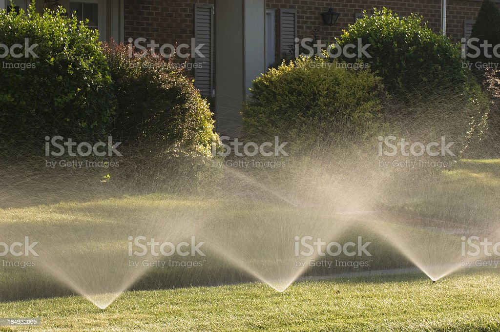Sprinklers royalty-free stock photo