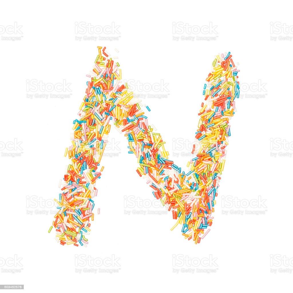 Streusel Alphabet-N – Foto