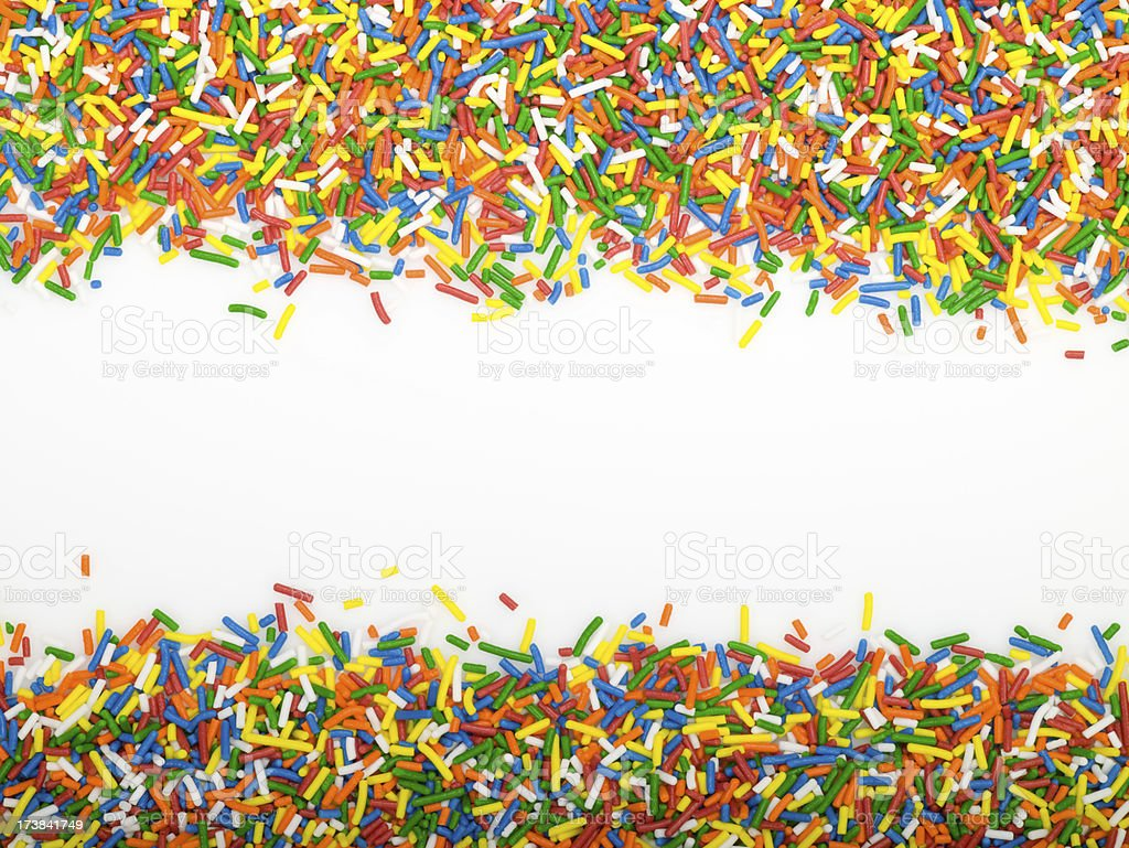 Sprinkles are a colorful border royalty-free stock photo