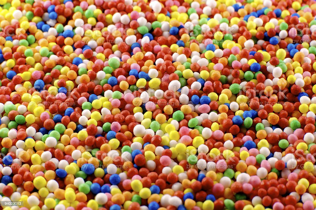 Sprinkles - extreme close up royalty-free stock photo