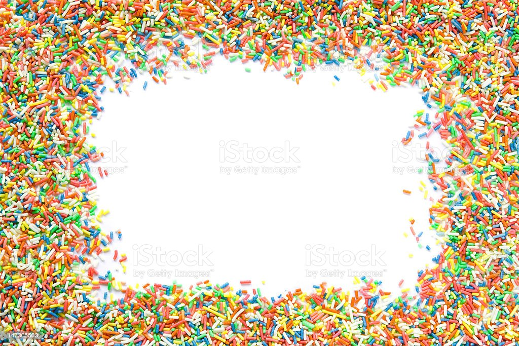 Sprinkles frame stock photo