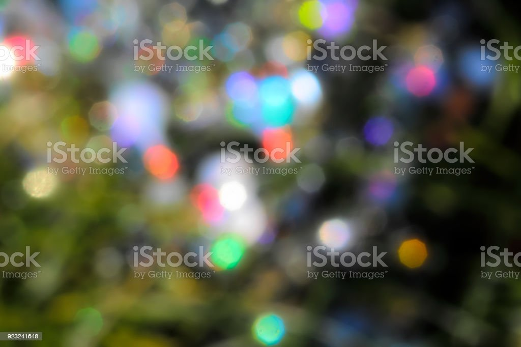 Sprinkling of sparkling magical multi-coloured lights stock photo