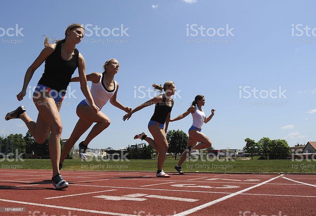 Sprint at 100 m royalty-free stock photo