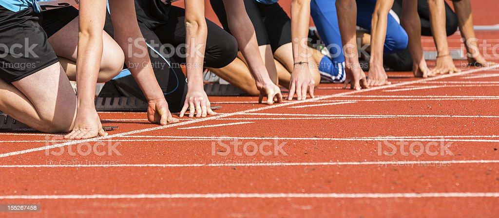 sprint inicio - foto de stock