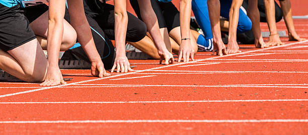 sprint começar - atletismo - fotografias e filmes do acervo