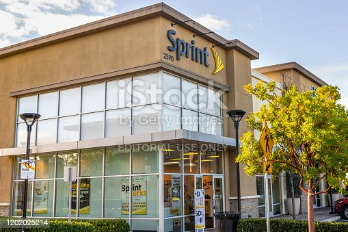 Jan 24, 2020 Mountain View / CA / USA - Sprint store entrance; Sprint Corporation is an American telecommunications company that provides wireless services and is an internet service provider
