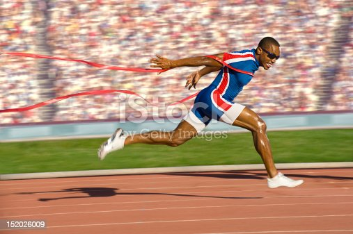istock Sprinter Crossing the Finish Line 152026009