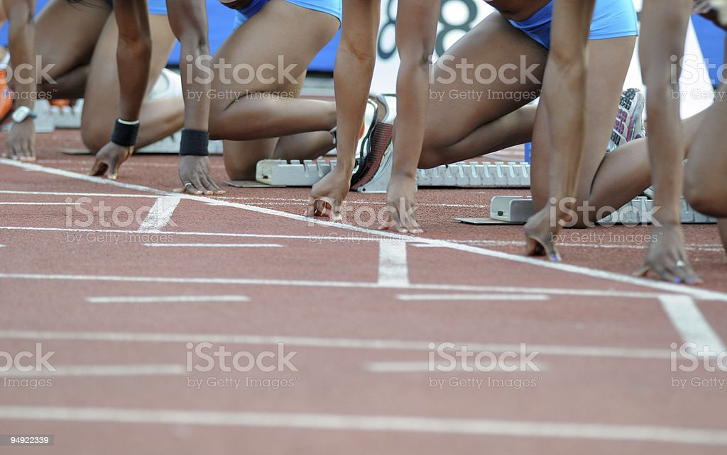 Sprinters royalty-free stock photo