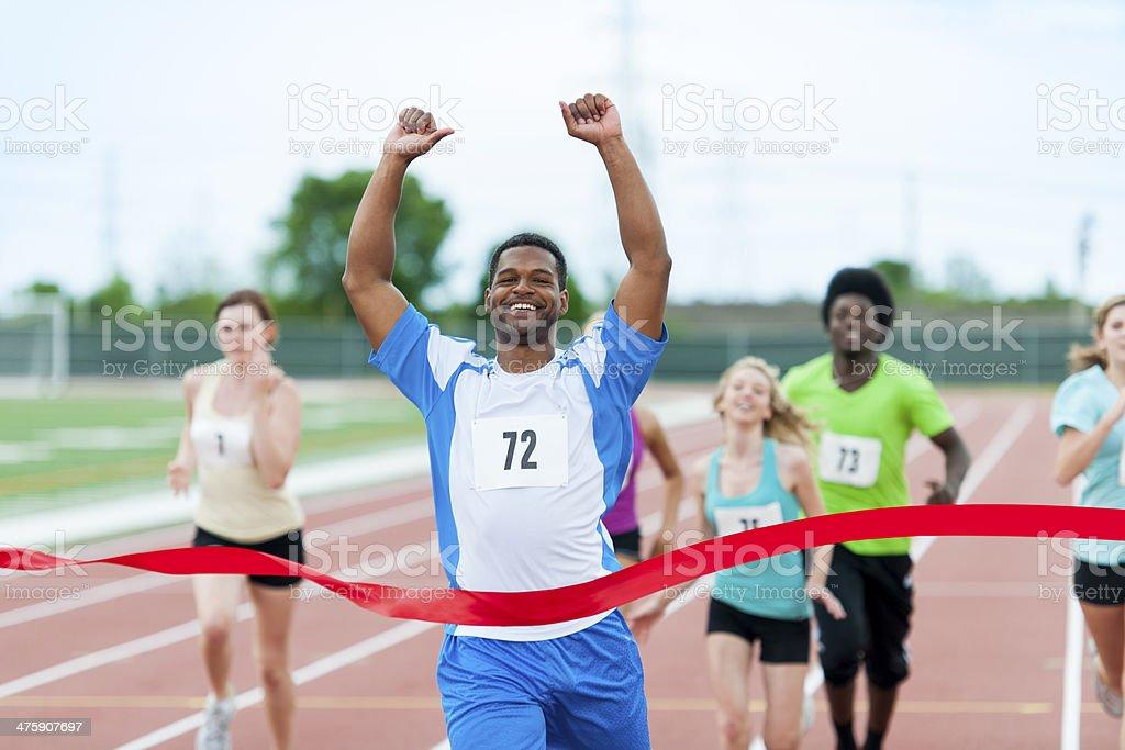 Sprinting stock photo