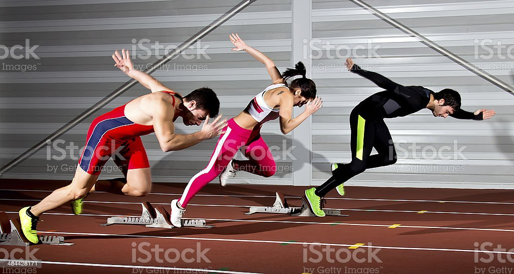 sprintstart stock photo