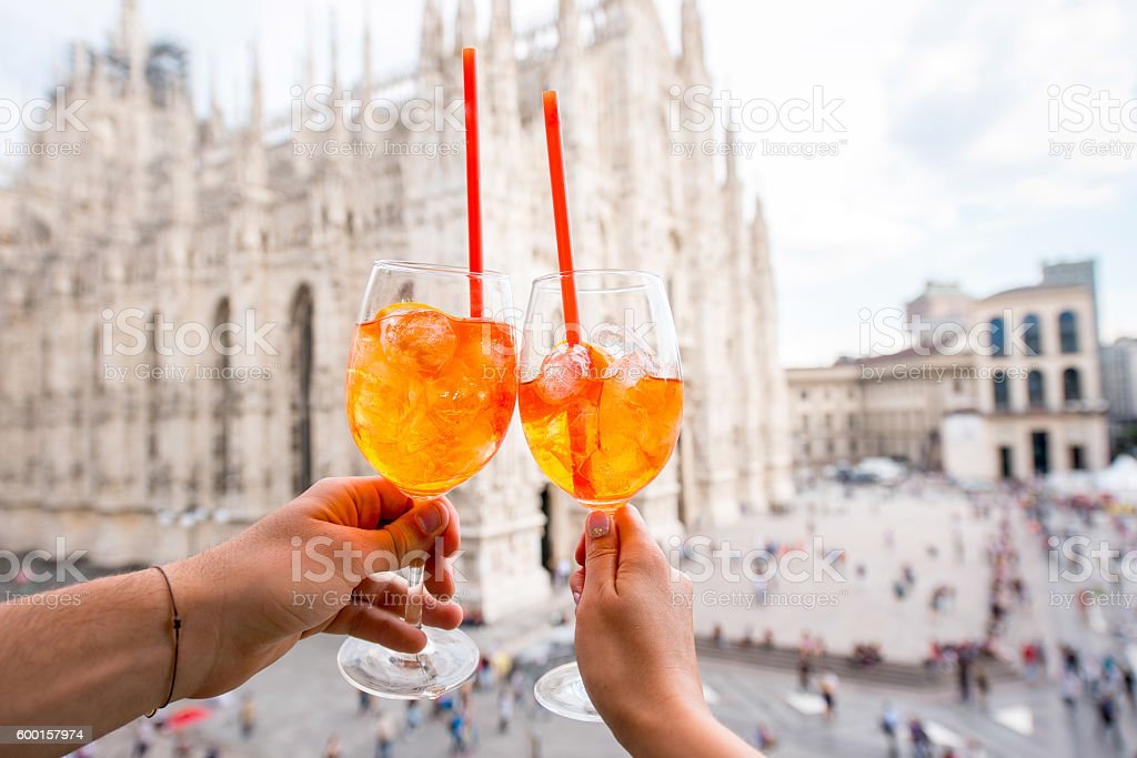 Spritz Aperol Drink In Milan Stock Photo Download Image
