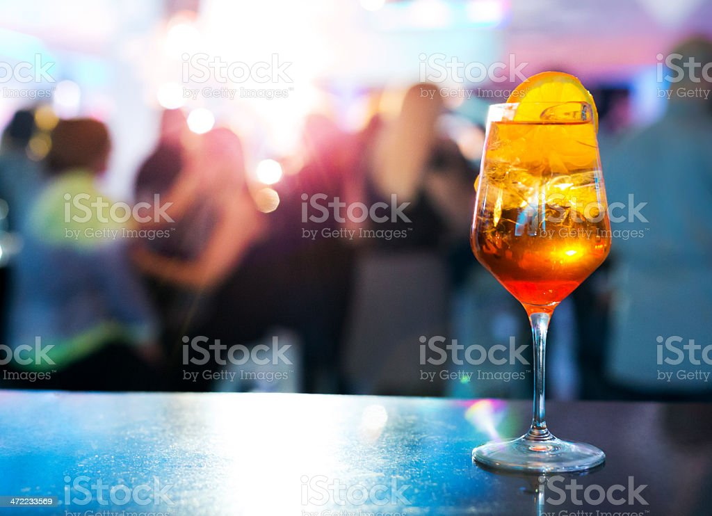 Aperol spritz cocktail stock photo