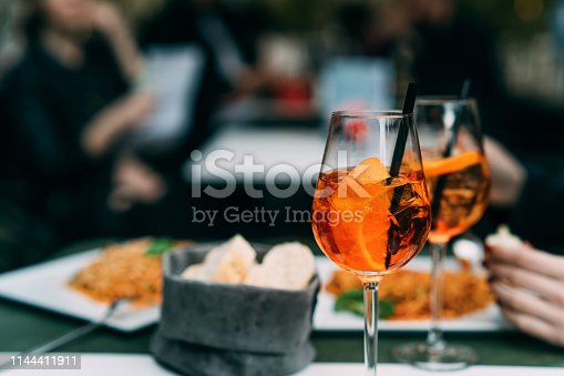 istock Spritz cocktails on branch table 1144411911