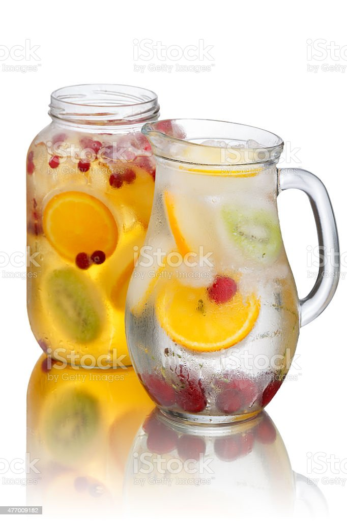 Spritzer (schorle) soft drink stock photo