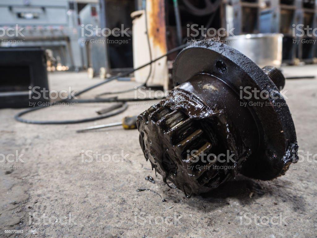 Sprocket oil stock photo