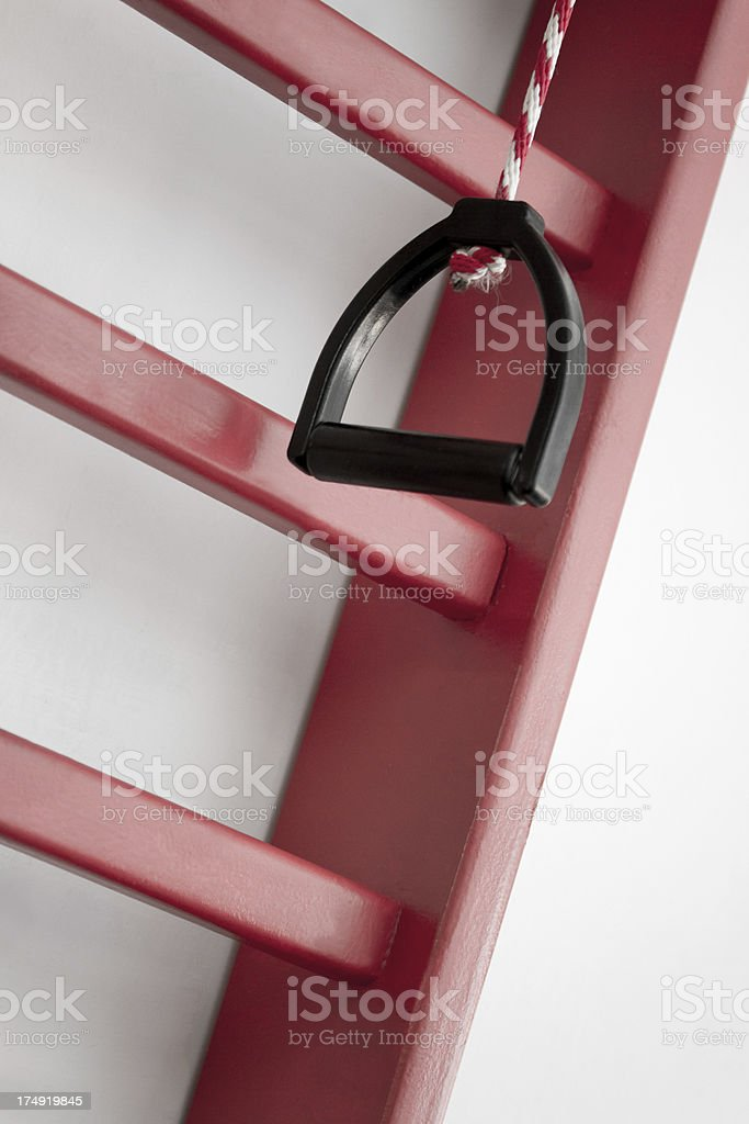 Sprossenwand -Physical therapy stock photo