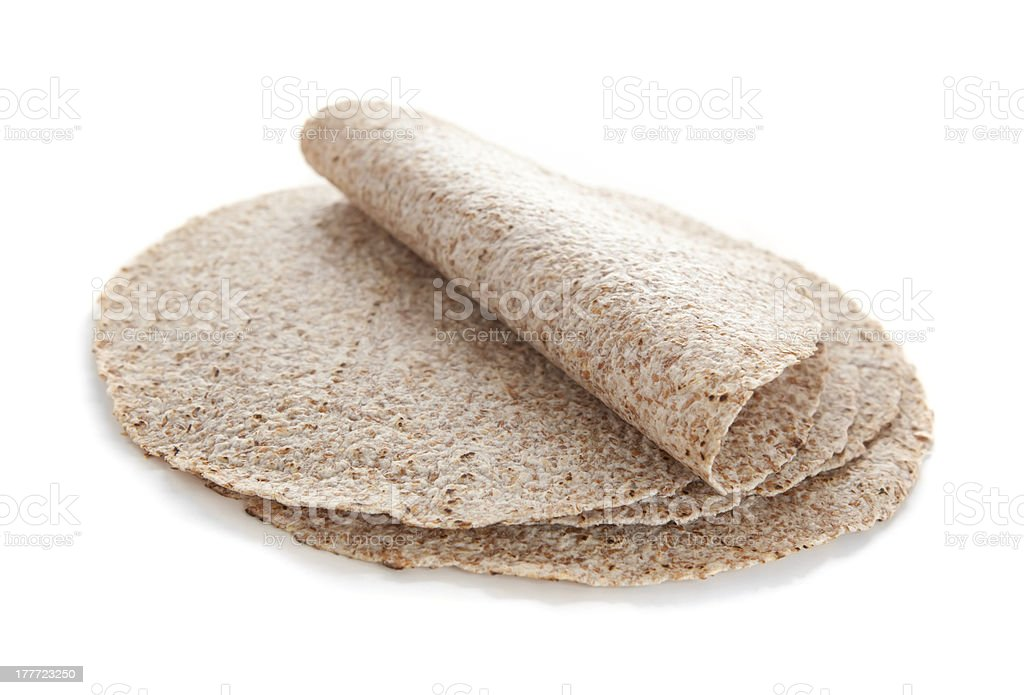Sprouted wheat tortillas stock photo