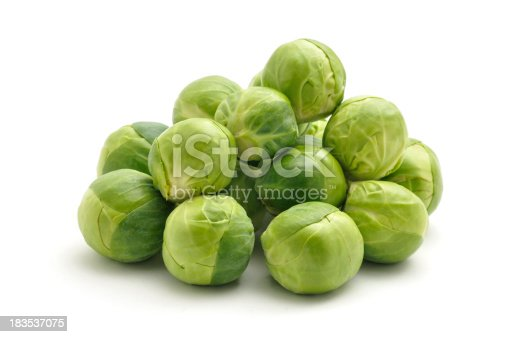Fresh Sprouts isolated on a white background.
