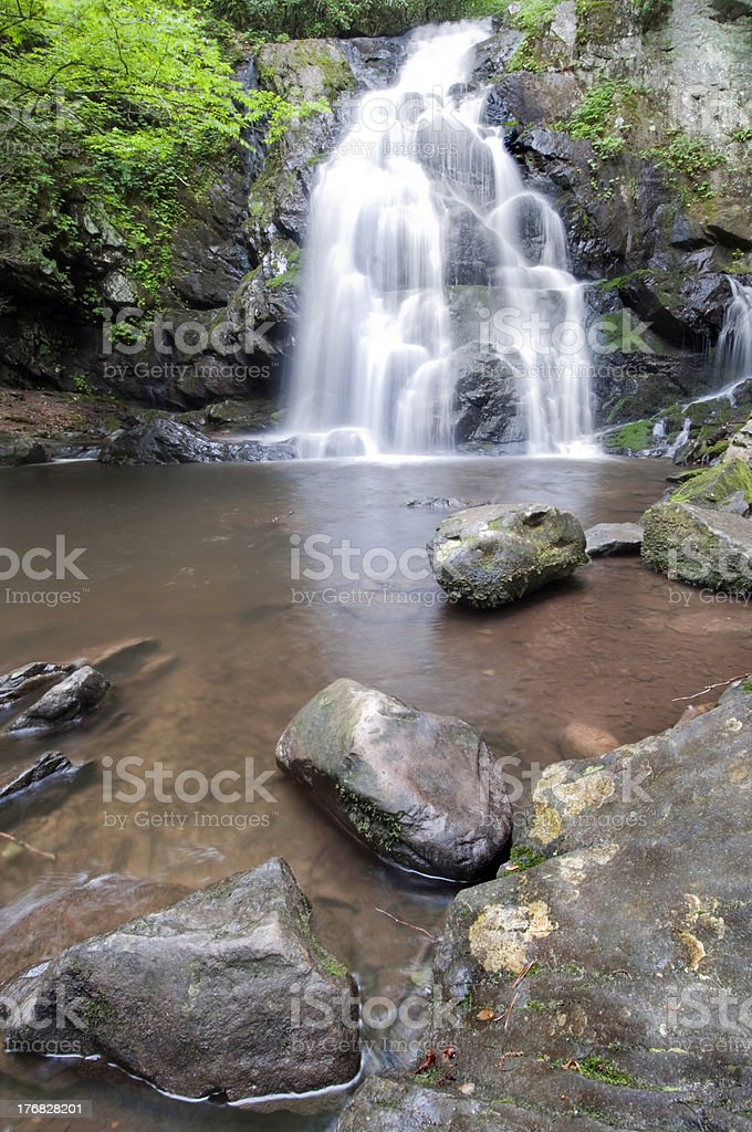 Spruce Flat Falls royalty-free stock photo