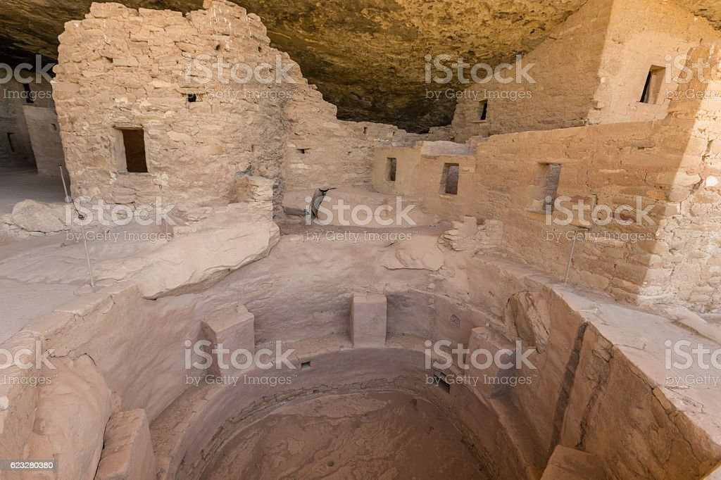 Spruce Tree House Cliff Dwelling stock photo