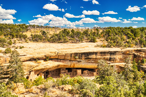 Spruce Tree House in Mesa Verde National Park, Colorado, USA