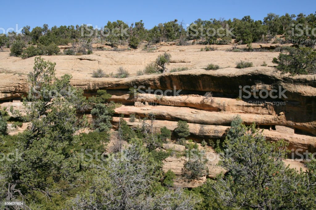 Spruce Tree House, Mesa Verde, Colorado, USA stock photo