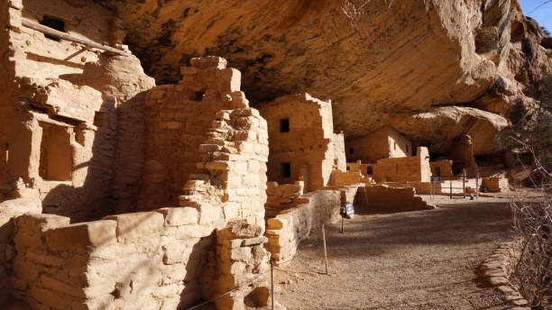 spruce tree house, mesa verde national park - hopi stock photos and pictures