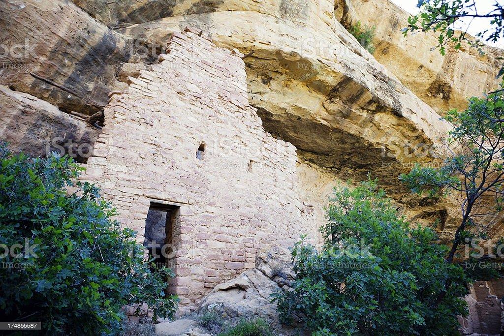 Spruce Tree House Ruins - Mesa Verde National Park, Colorado royalty-free stock photo