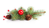 istock Spruce twig decoration 175265933